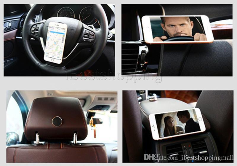 Support magnétique universel pour téléphone portable avec supports magnétiques pour téléphone portable avec emballage de vente au détail pour iPhone 7 6 Plus Samsung Smartphones Dispositifs GPS