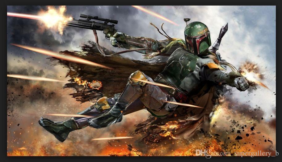 2019 Hd Print Home Wall Decor Art Painting Boba Fett Badass On High Quality Canvas Home Wall