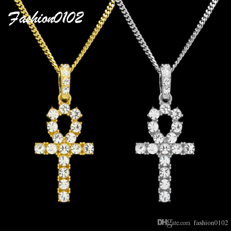 Wholesale gold ankh necklace egyptian jewelry hip hop for Egyptian jewelry