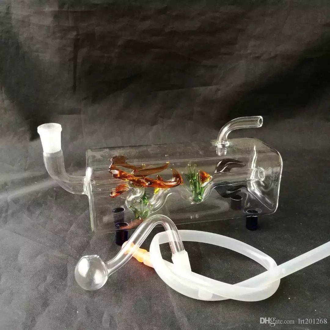 Cruz hookah tubo Cottage, Atacado vidro Bongs, as tubulações de óleo Burner água de vidro, cachimbos Acessórios