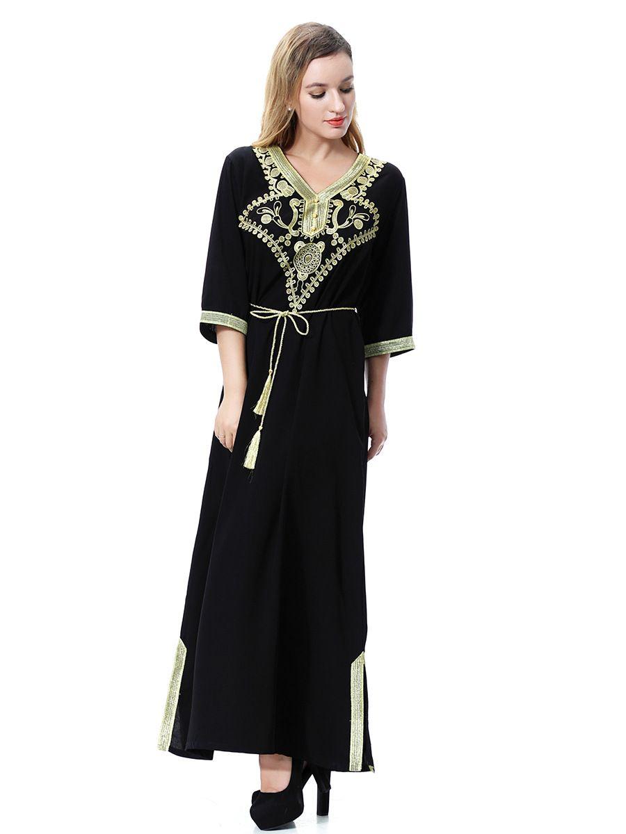 Wholesale muslim girl dress Arabia, the Middle East, Dubai, Saudi Arabia, Southeast Asian women's gowns, long dresses for Lady girls