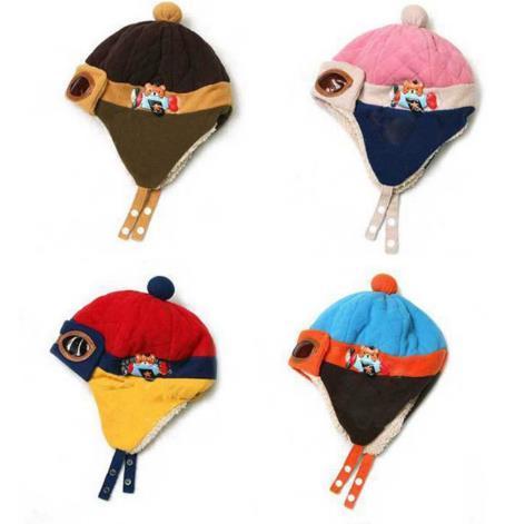 Lovely Autumn Winter Toddlers Warm Cap Hat Beanie Cool Baby Boy Girl Kids Infant Winter Pilot Cap Children Kids Hat