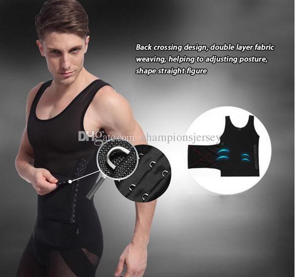 Camisa de emagrecimento homens Shapers Do Corpo abdonmen compressão Cintura Treinamento Espartilhos Para Os Homens Cinturão Cinto Reduzir Barriga Barriga Busto