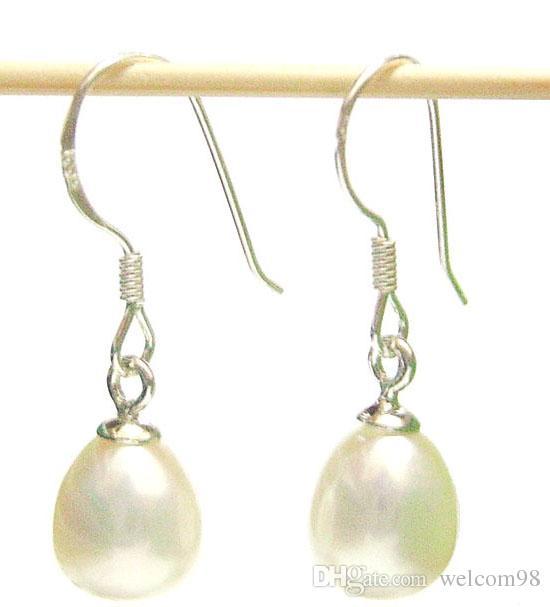 / vit pärla örhängen silver krok dangle ljuskrona för kvinna mode present hantverk smycken c01