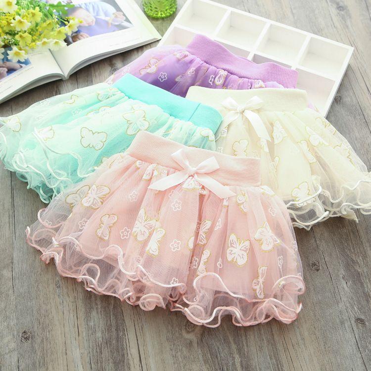 Child Korean Version Waist Skirt 2017 New Infant Child Skirt Fashion Girl Embroidery Baby Skirt Hot Selling