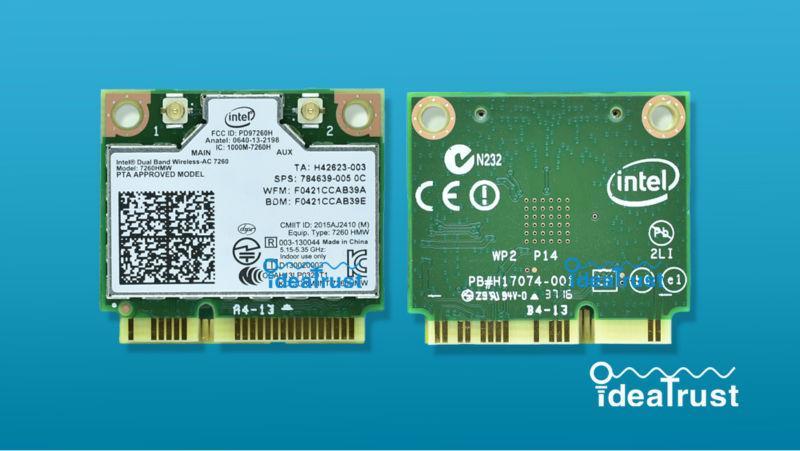 Wholesale- Brand new for Intel Dual Band Wireless-AC 7260 Intel7260 7260AC  7260HMW WiFi 2 4&5G 867M BT4 0 MiniPCIe Wireless Network Card