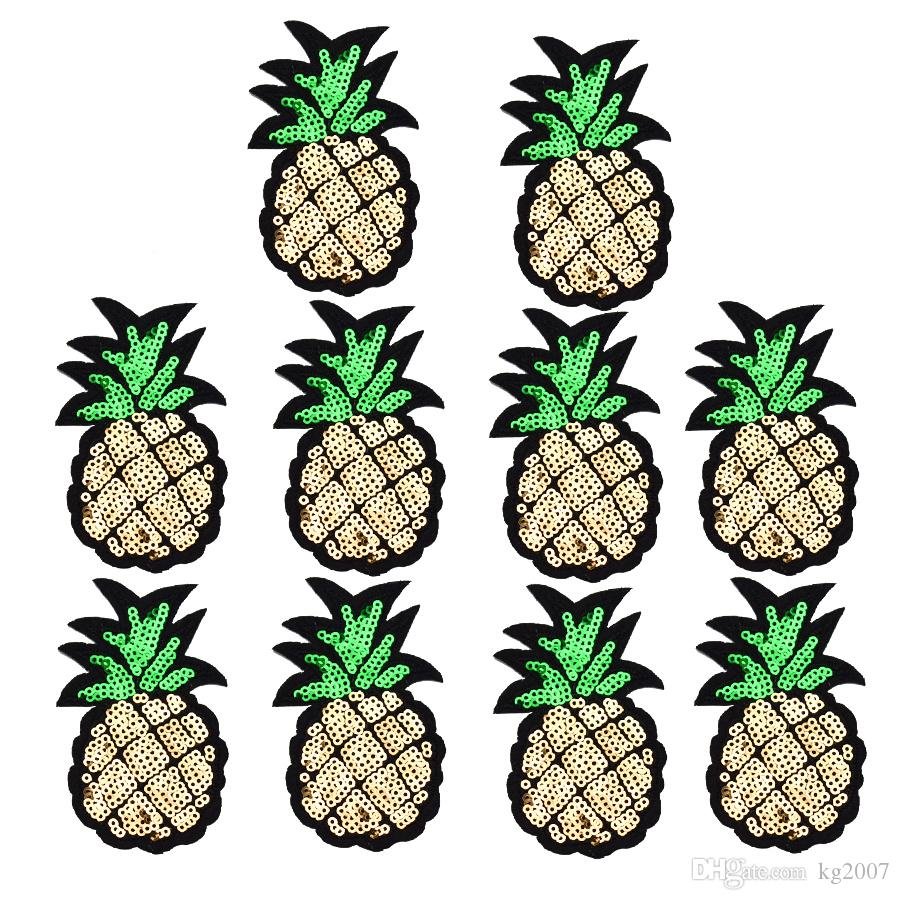 piña lentejuelas Parches para Plancha de Transferencia apliques Patch fruta para bolsas Jeans DIY cose en el bordado de las lentejuelas