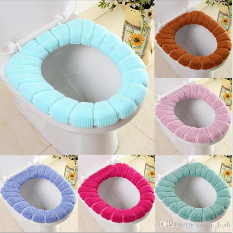 O-shaped Toilet Seat Cover Acrylic Fiber Warmer Toilet Seat Cover Cushion Pads for Bathroom Products Comfortable