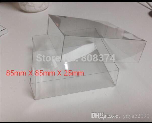 Noções de costura Ferramentas de costura Caixas De Armazenamento Claro PVC Caixas de Presente de Casamento FALTO, quadrado caixa de PVC transparente