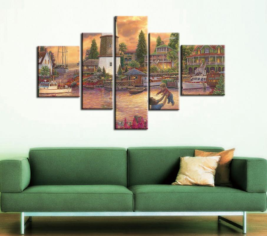 5 Decorative Painting Home Decor Wall Art European Landscape Digital Wholesale And Retail Craft Gift Poster Online With 5028 Piece On