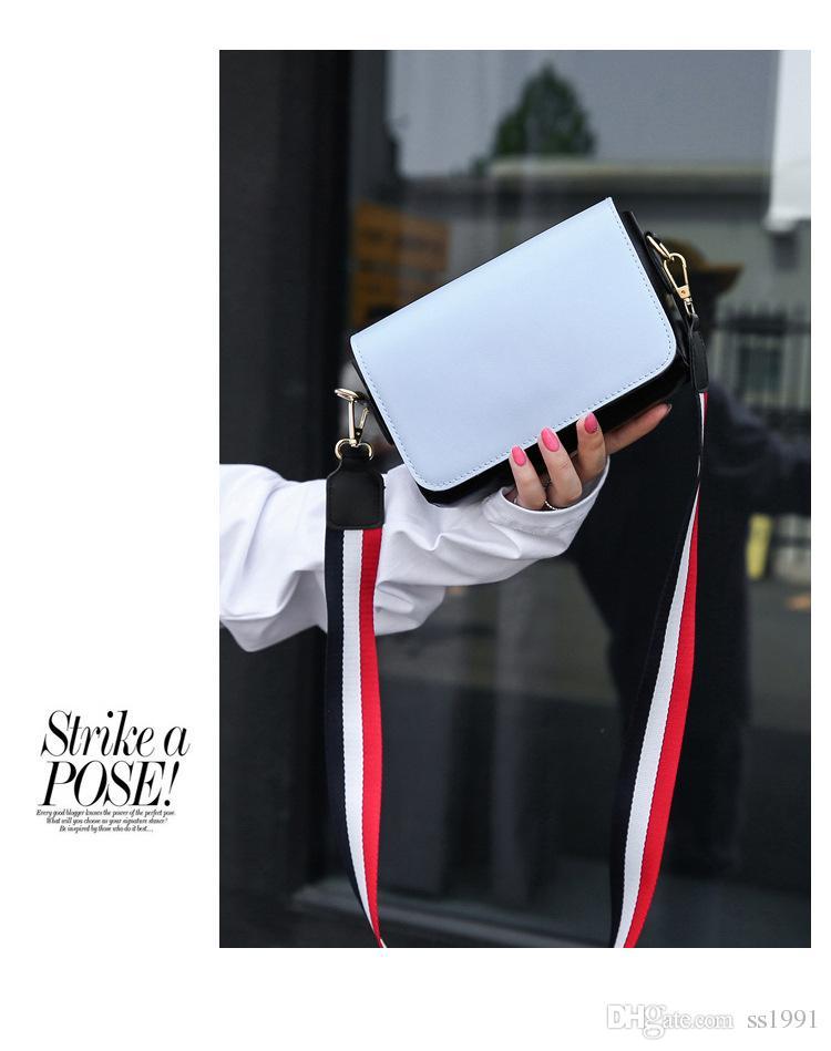 2017 verão novo pacote de maré porto vento largo alça de ombro mensageiro pacote Harajuku vento bolsa de ombro simples pequeno saco quadrado 170620