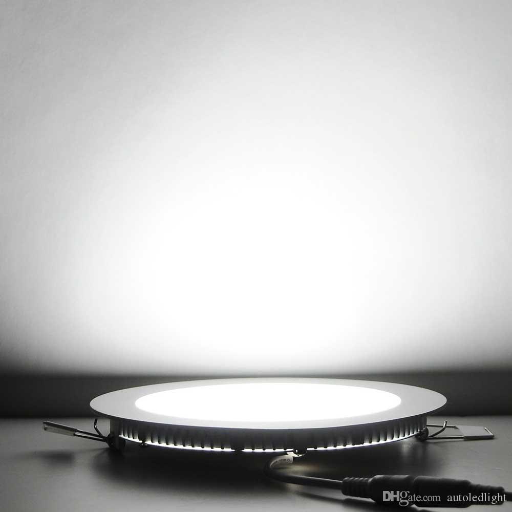Recessed downlight LED 천장 패널 조명 3W 6W 9W 12W 15W 18W 패널 라운드 스퀘어 실내 조명 AC85-265V