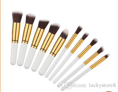 Профессиональный 10 шт. кисти для макияжа набор косметических глаз бровей Тени ресницы румяна комплект бесплатная ничья строка макияж инструменты DHL бесплатная доставка