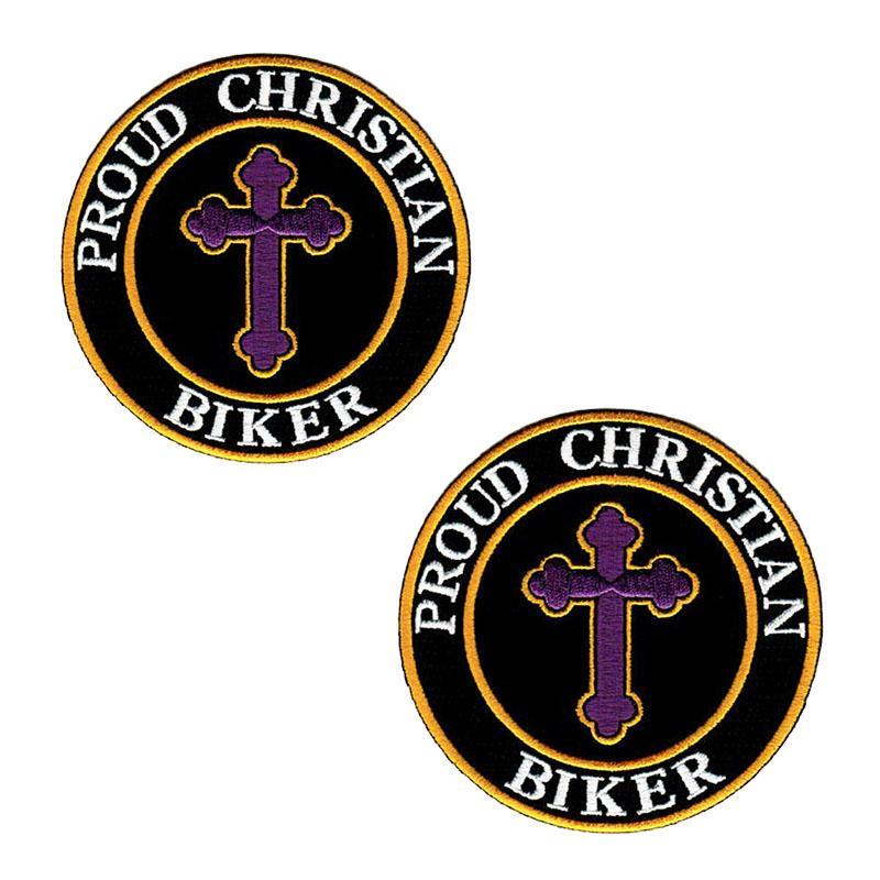 Büyük indirim! Gururlu Christian Biker Işlemeli Yama Demir SWE T-bok veya Ceket Çantası Şapka Şapkası vb Yüksek Quanlity