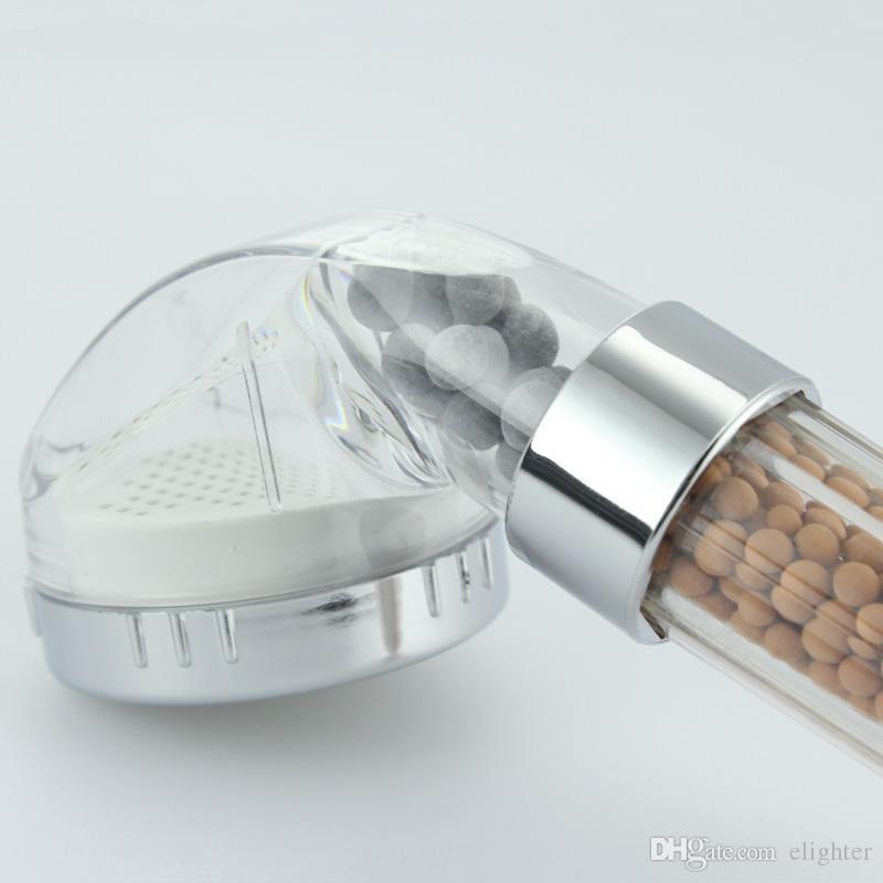 Pomme de douche Salle de bain thérapie eau douche tête Filtre transparent économie d'eau de pluie Filtre Douche tête haute pression ABS pulvérisation