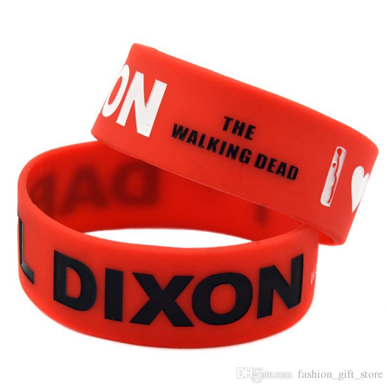 1 pulgada de ancho Amo Daryl Dixon The Walking Dead Tamaño de silicona de goma pulsera para adultos