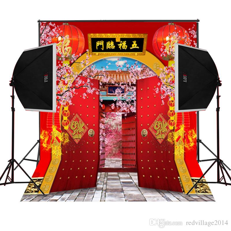 2019 Chinese Fortune New Year Garden Scenic Photography Backdrops