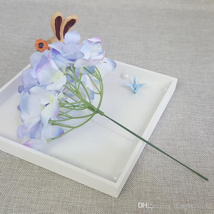 50 Unids15 CM Artificial Hortensia Cabeza de Flor de Seda Decorativa Para Decoraciones de Boda Accesorios Para el Hogar Accesorios de Decoración Del Partido Hortensia Rosa Pared