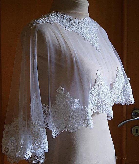 Best Selling 2018 Bridal Wraps Sequins Applique Bridal Shawl Lace Jackets Wedding Capes Wraps Bolero Jacket Wedding Dress Wraps Plus Size