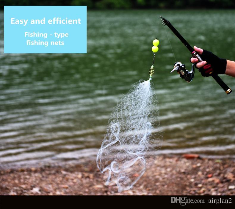 Оптовая торговля пресноводной карповой рыболовной сеткой маленькая сетка сетка Легко принимая рыба сетка ловушки PESCA Рыболовные аксессуары
