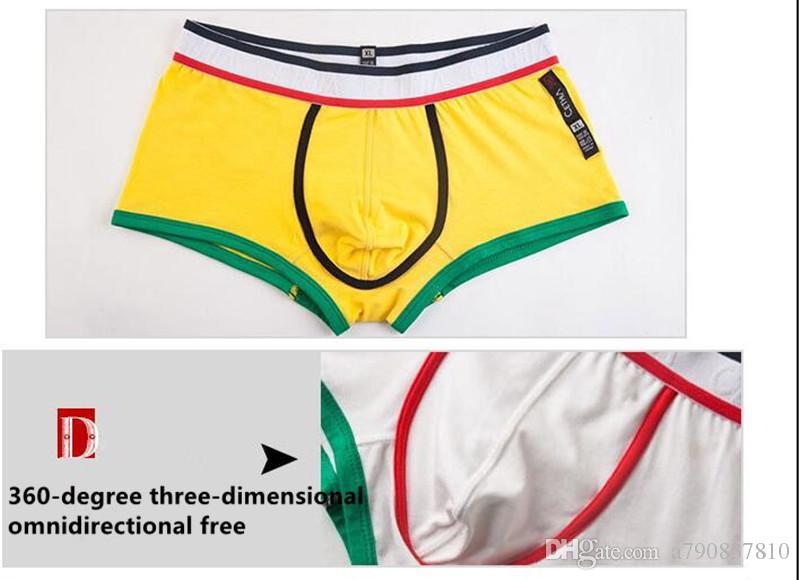 Meilleur Vente Sexy Hommes Sous-Vêtements Coton Et Confortable Marque Boxers U Poche Style De Mode Sous-Vêtements Hommes Boxer Shorts Tronc NS017