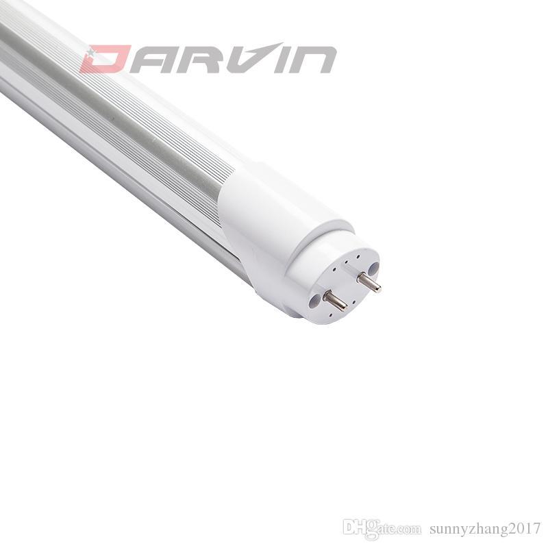 2018 새로운 도착 시간 제한 85-265V 밀키 커버 T8 LED 조명 5ft 분할 튜브 1500mm 25W 28W 에너지 절약 램프 전구 높은 루멘 AC85-265V