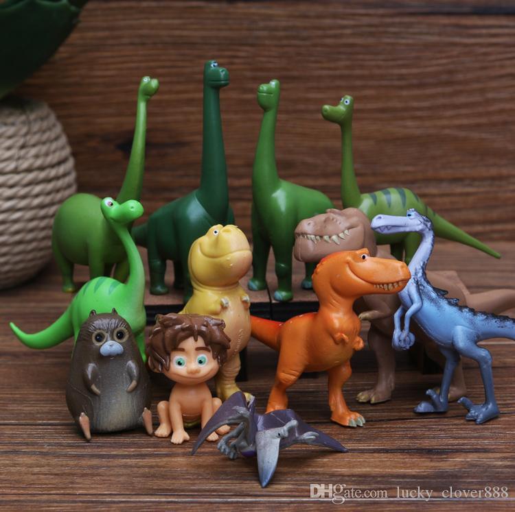 مجموعة من 12 الديناصورات ديناصور جيد playset كعكة القبعات العالية أرلو بقعة رامزي التماثيل أطفال لعبة هدية