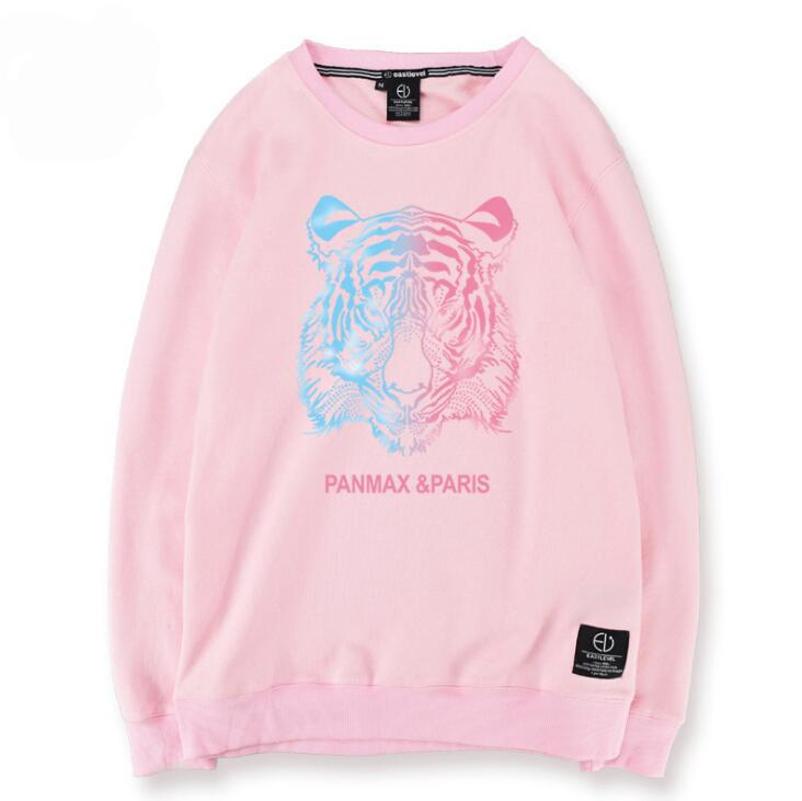 2017 New Men Pullover Hoodies Printed Tiger Sweatshirts Men Design Clothing Cute Funny Casual Men Outwear Cool Tops
