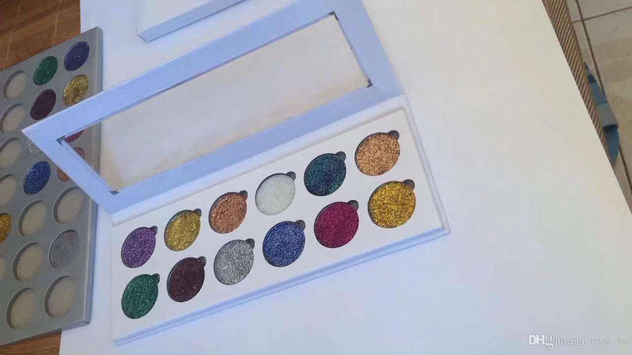 Nouveau maquillage paillettes yeux 12 couleurs palette arc-en-ciel pressé Glitter DHL gratuite
