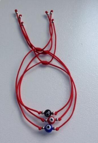 Nylon Evil Eye Red String Kabbalah Bracelet Bead Good Luck Charm Protection Cuff Bracelets Bangle Jewelry Gift Punk Accessories HOT