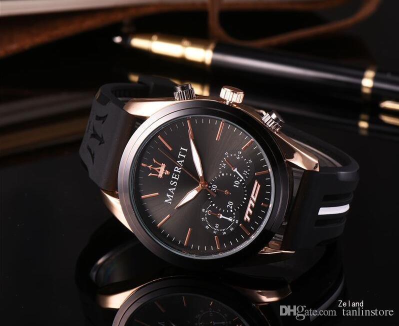 Geschenk-Mann-Goldsilikon passt Quarz-Uhr-analoge wasserdichte Sportarmee-Militärarmbanduhr auf