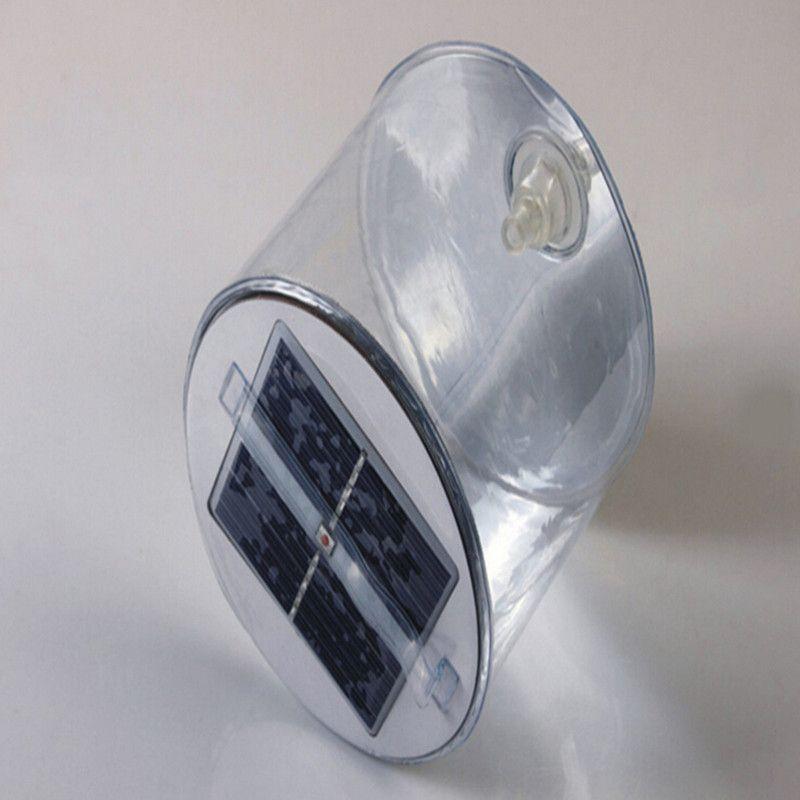 Luce solare gonfiabile trasparente 10 lanterna a LED Lampada solare impermeabile Lampada da campeggio portatile pieghevole da campeggio Nuoto da esterno Tenda da pesca
