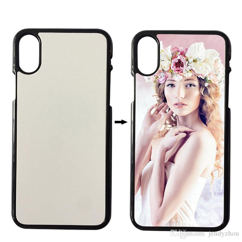 various colors 05afd ae7bb For IPhone X Case Sublimation Case 2D Plastic Blank Sublimation Cover For  IPhone X Heat Transfer DIY Design Case Cell Phone Leather Cases Durable  Cell ...
