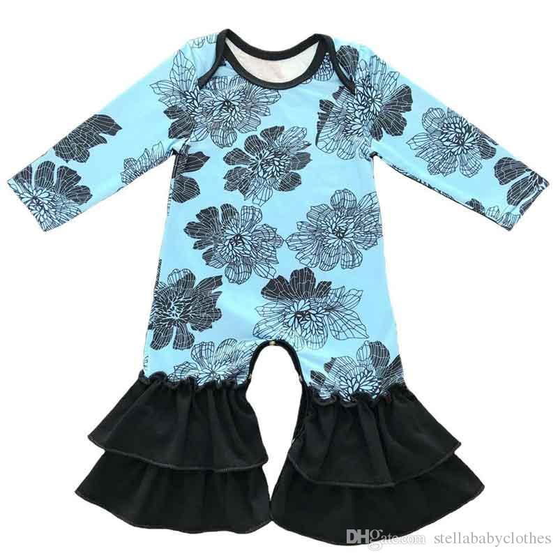 d15eb2d5592 2019 Fashion Fall Floral Print Kids Clothing High Quality Long Sleeve  Newborn Toddler Jumpsuit 7 Style To Choose Hot Sales From  Stellababyclothes