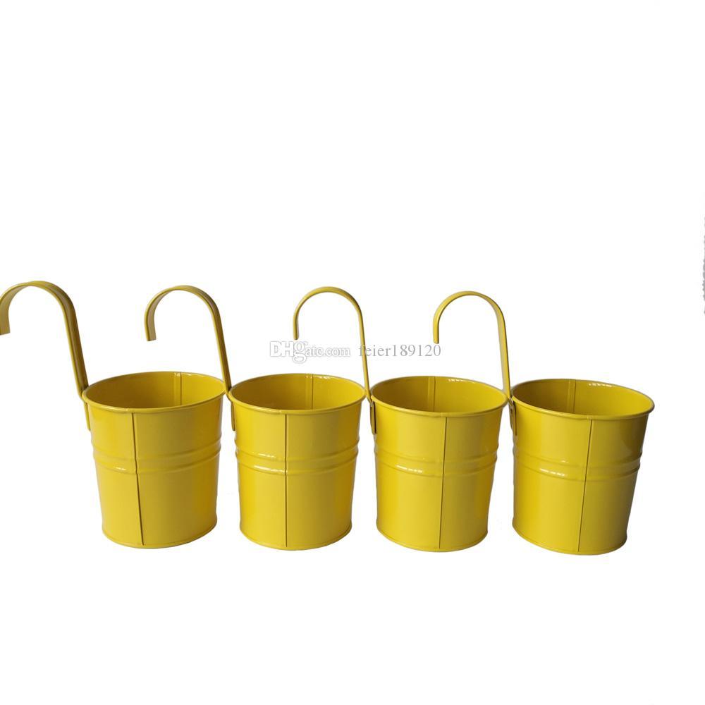 D95xh175cm Yellow Color Metal Plant Flower Pot Hook Planter