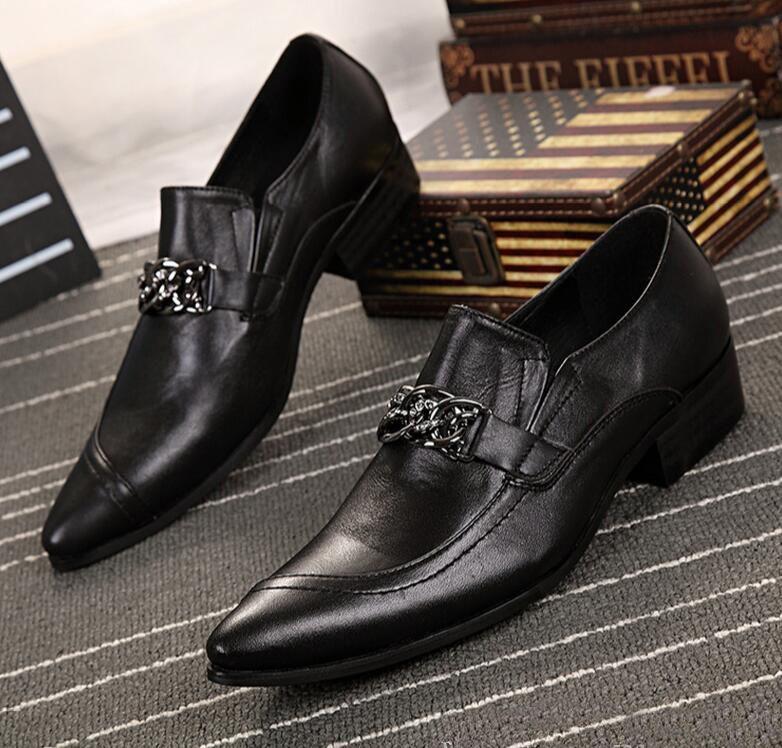 Luxus Schwarz Weiß Mischfarbe Echtes Leder Männer Slip On Flache Hochzeit Kleid Schuhe Herbst Neue Oxford Schuhe Männer Bullock