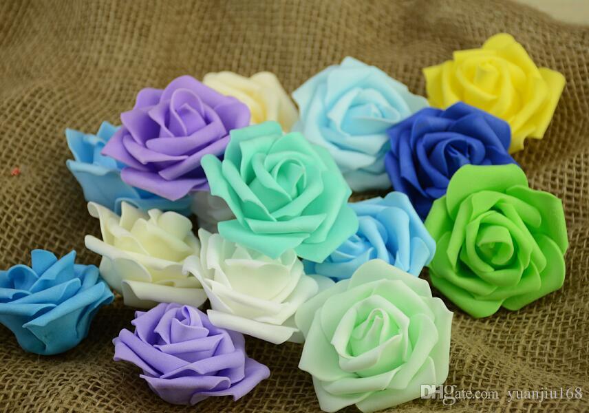 7cm 인공적인 거품 장미 가정 결혼식 훈장을 % s 꽃 Scrapbooking PE 꽃 머리 키스 공 Multi Color G57