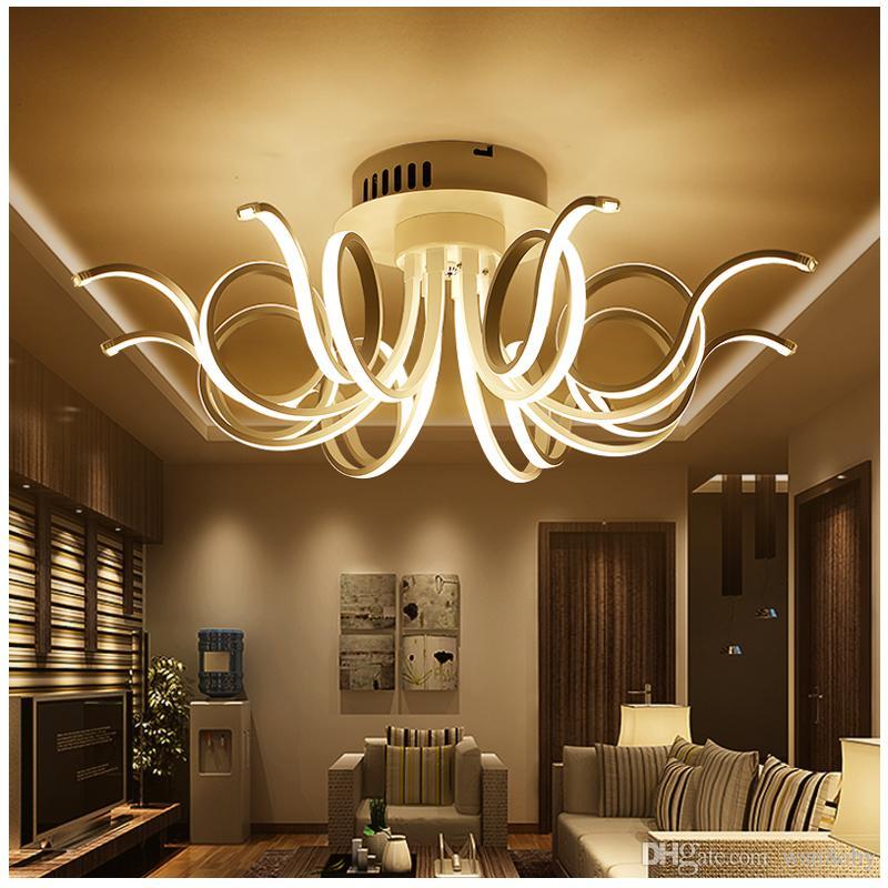 Großhandel Moderne Led Wohnzimmer Deckenleuchten Schlafzimmer Acryl Lampe  Plafond Lampe Deckenleuchten Leuchten Helligkeit Dimmbare Led Von Wsn8oby,  ...