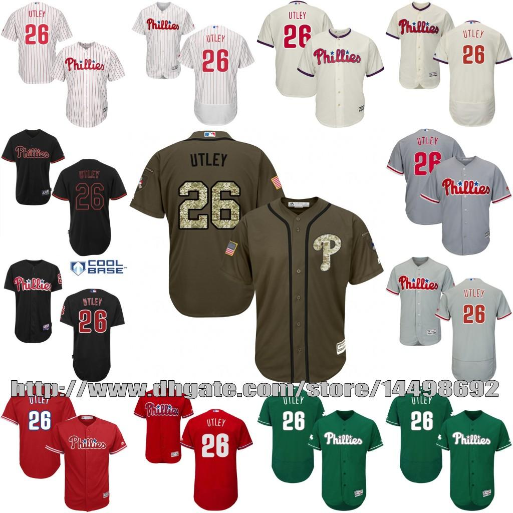 166aed2427d ... Home Cool Base MLB YouthMens Philadelphia Phillies Jerseys 26 Chase  Utley Red Grey Cream White Flexbase Cool Base Baseball Custom ...