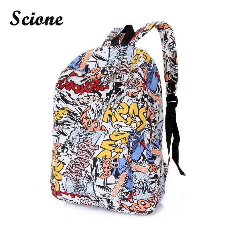 Wholesale 2016 Factory Price School Bags For Teenagers School Backpack  Korean Women Men S Fashion Graffiti Backpack Graffiti Shoulder Bag Mochilas  Jansport ... 0b208291ee3f9