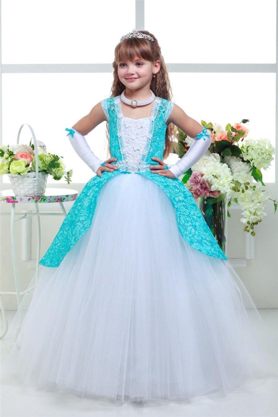 2017 Sweet and elegant Colorful Backless Sleeveless Flower Girl Halter Girls Pageant Dresses First Communion Dresses