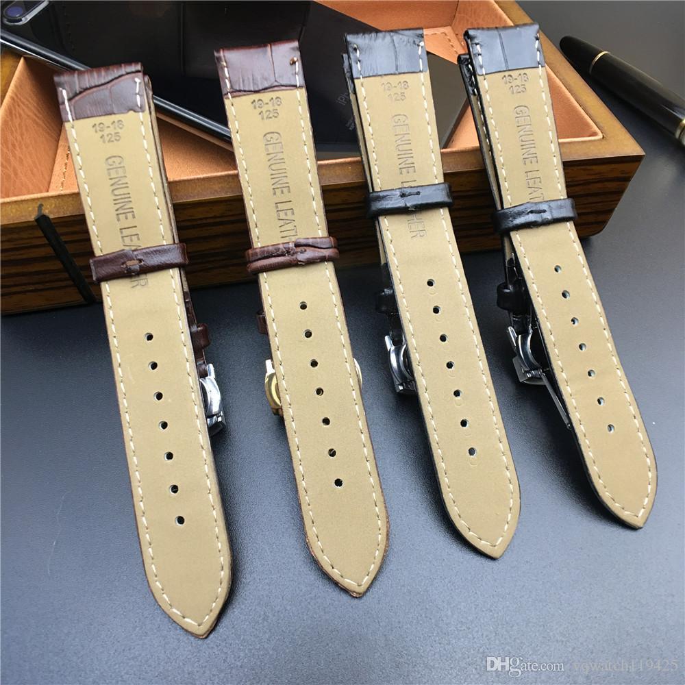 حزام حزام من الجلد الطبيعي لسوار أوميغا تيسو لهاميلتون 12/13/14/16/17/18/19/20/22 / 24mm + Tool