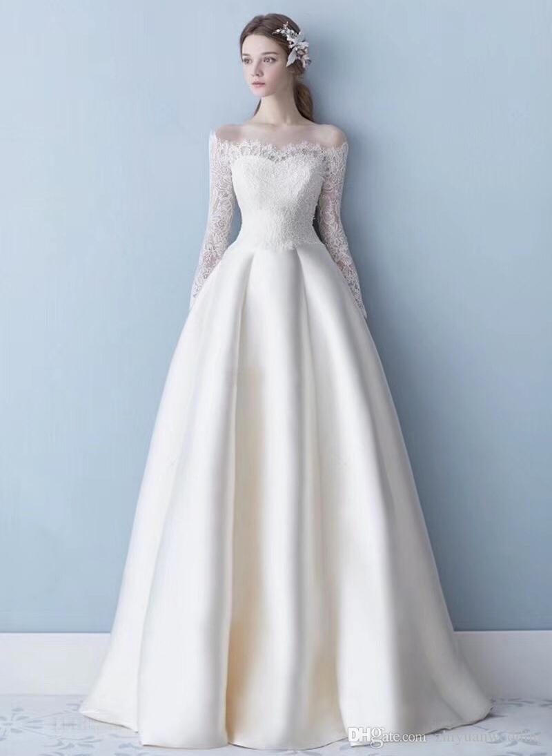 Fein Einfacher Einfacher Brautkleider Zeitgenössisch - Hochzeit ...