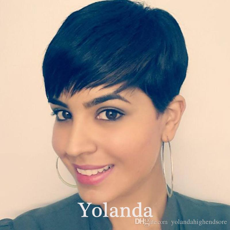 Rihanna Short Hair Wigs Pixie Cut Short Hair Style Cuts 7a Brazilian