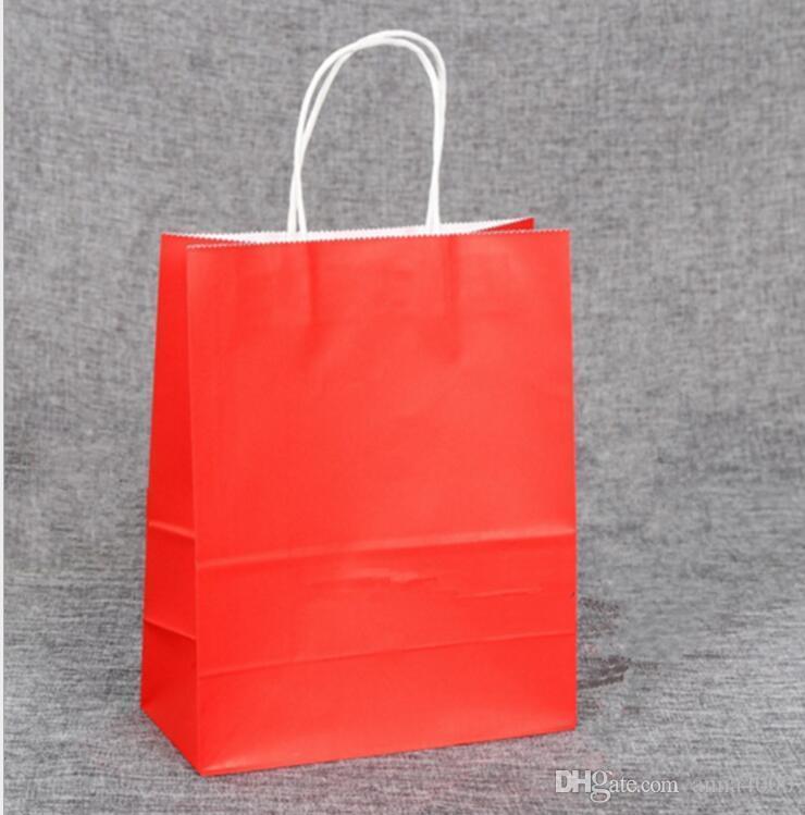 Sacchetto di carta regalo sacchetto di carta kraft di colore 9 Nuovo sacchetto di carta regalo in bianco sacchetto di carta regalo alla moda