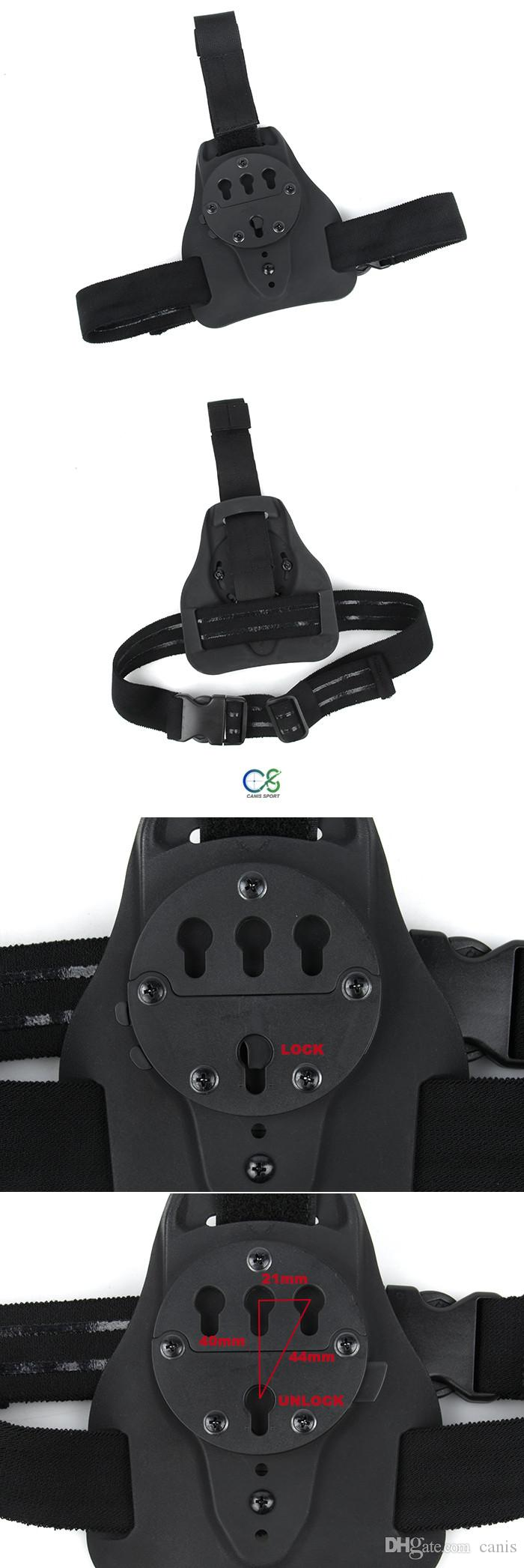 Hunting Tactical Single Singolo Pannello Holster GC Montare il sistema Accesso rapido alle gambe appese a CL7-0080
