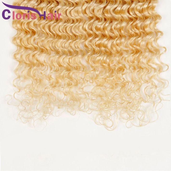 Colour 613 Curly Brasilianische Reine Haarwebart Bleach Blonde Tiefe Welle Brazillian Echthaar Extensions Tiefe Locken 3 Bundles Angebote