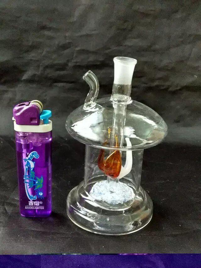 Plate silk mushroom hookah  , Glass Water Pipe Smoking Pipes Percolator Glass Bongs Oil Burner Water Pipes Oil Rigs Smoking