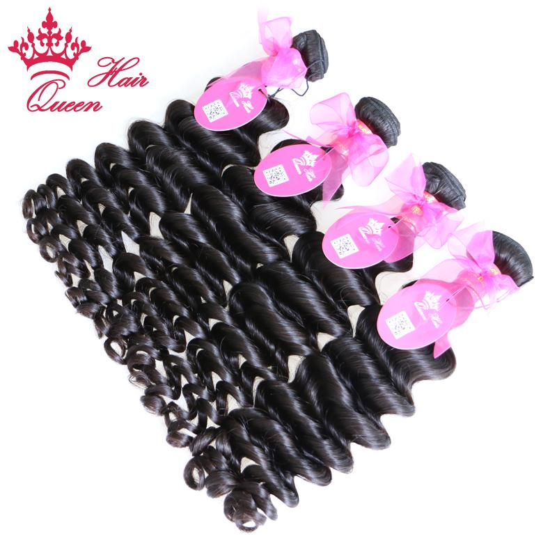 Queen Hair Products More Wave Brazilian Virgin Hair Extension Virgin Hair DHL Fast Shipping Natural Color 1B