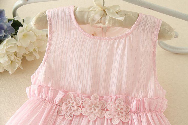 2017New arrivo Fancy Ultimi Baby Party Dress Bambini Frocks Design sforzato Peplo Flower Girl Dress i bambini